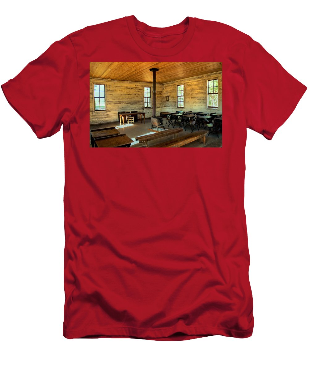 School Men's T-Shirt (Athletic Fit) featuring the photograph Education Of The Past by Charles Beeler