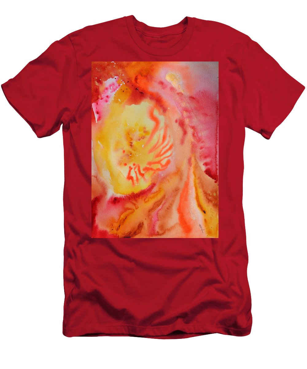 Abstract Men's T-Shirt (Athletic Fit) featuring the painting Emergent by Beverley Harper Tinsley