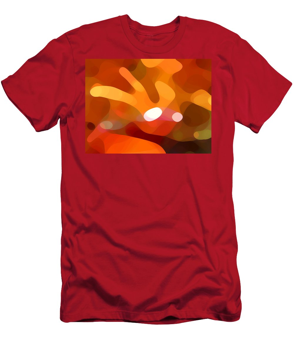 Abstract Men's T-Shirt (Athletic Fit) featuring the painting Fall Day by Amy Vangsgard