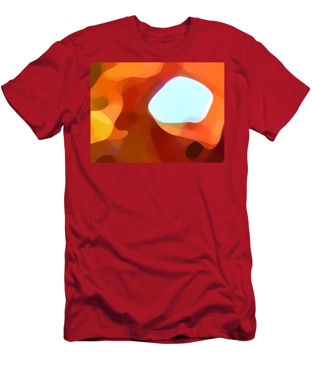 Abstract Men's T-Shirt (Athletic Fit) featuring the painting Fall Passage by Amy Vangsgard