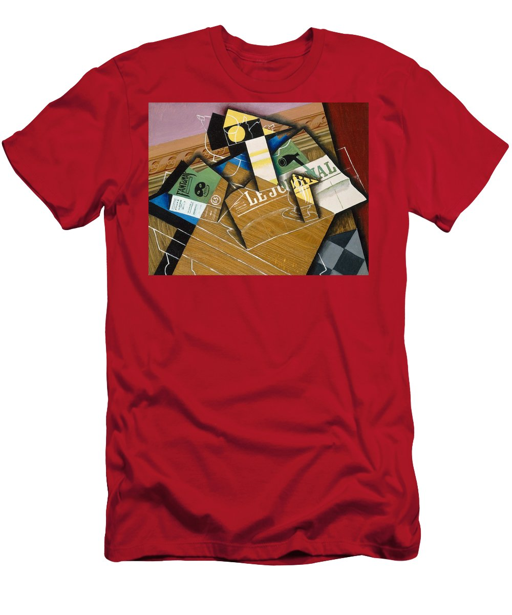 Abstract; Spanish; Still Life; Cubist; Cubism; Journal Men's T-Shirt (Athletic Fit) featuring the painting Fantomas by Juan Gris