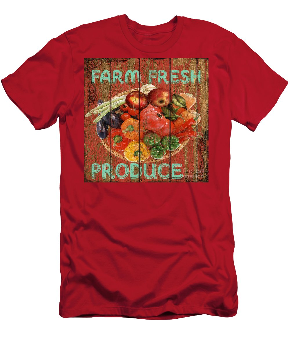 Digital Art Men's T-Shirt (Athletic Fit) featuring the mixed media Farm Fresh Produce by Jean PLout