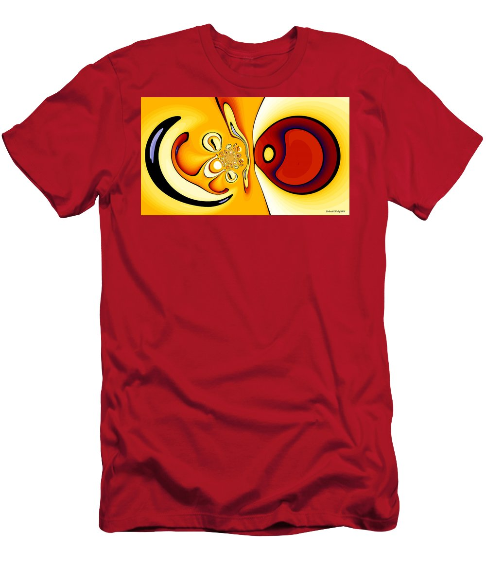 Digital Men's T-Shirt (Athletic Fit) featuring the digital art Fixation by Richard Kelly