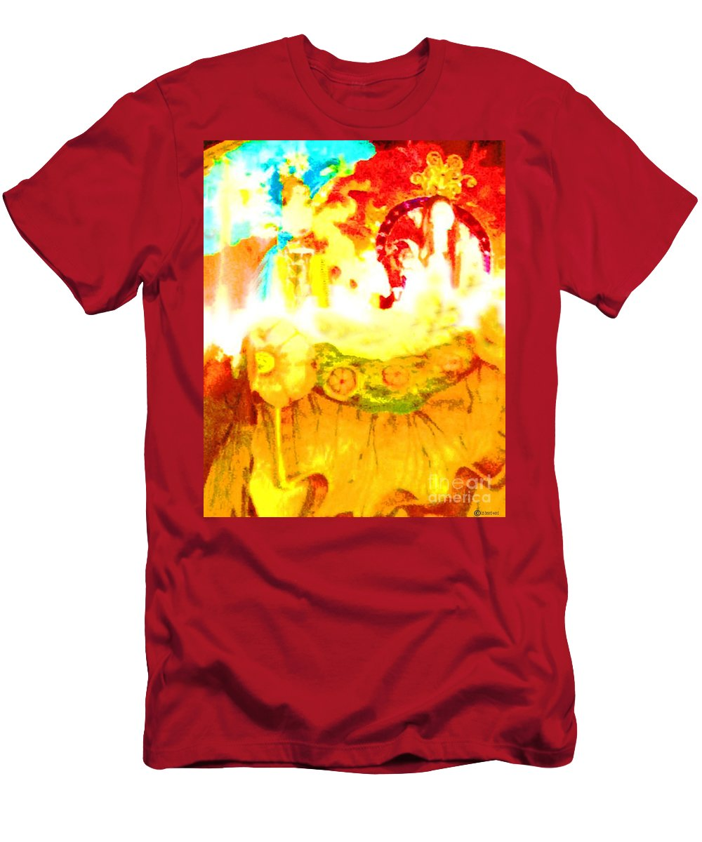 Mardis Gras Men's T-Shirt (Athletic Fit) featuring the digital art Float by Lizi Beard-Ward