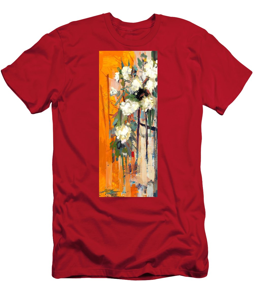 Flower Men's T-Shirt (Athletic Fit) featuring the painting Floral 17 by Mahnoor Shah