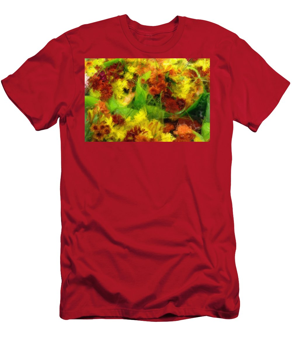 Flower Men's T-Shirt (Athletic Fit) featuring the painting Flower Carnival by Inspirowl Design