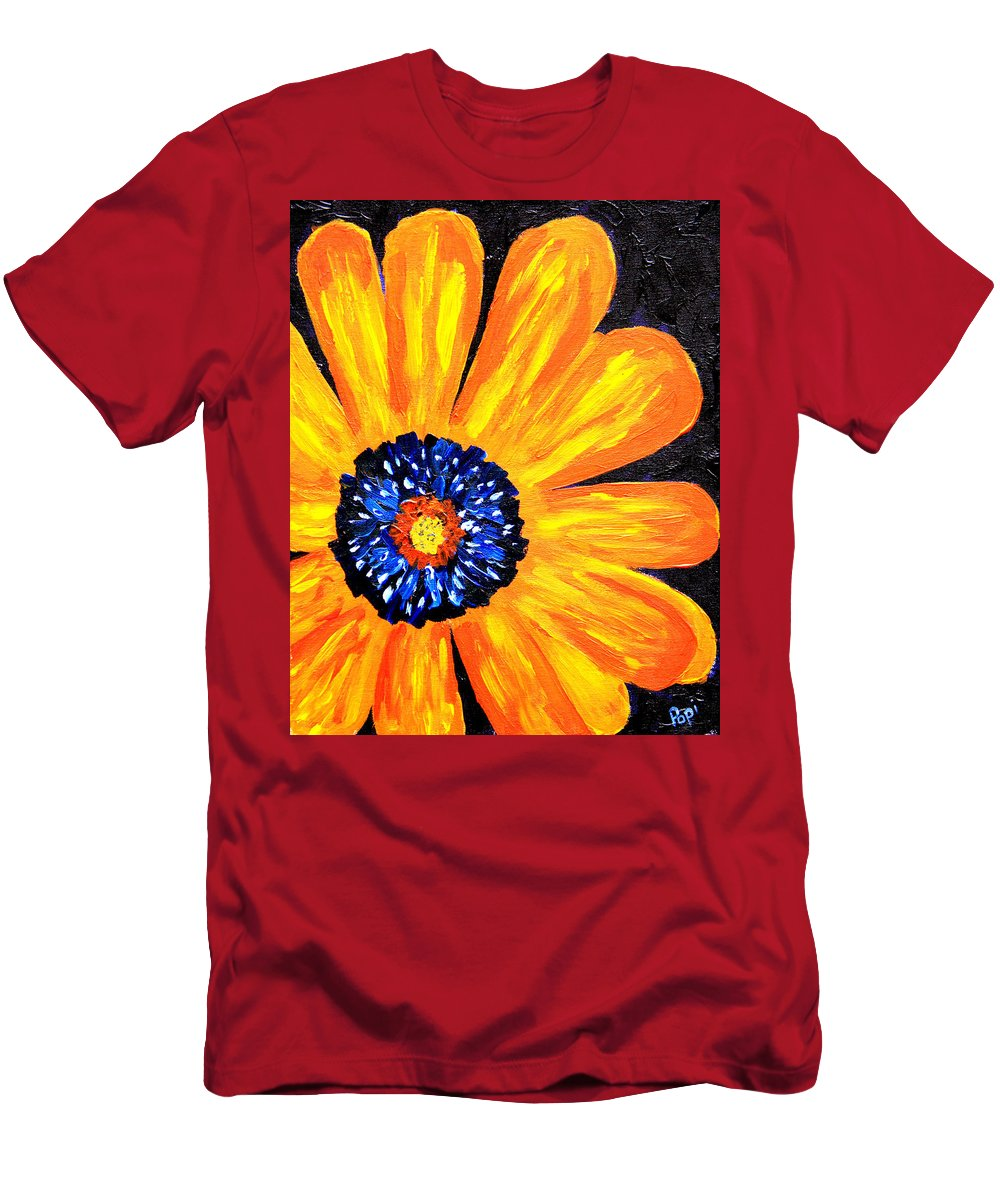 Yellow T-Shirt featuring the painting Flower Power 2 by Paul Anderson