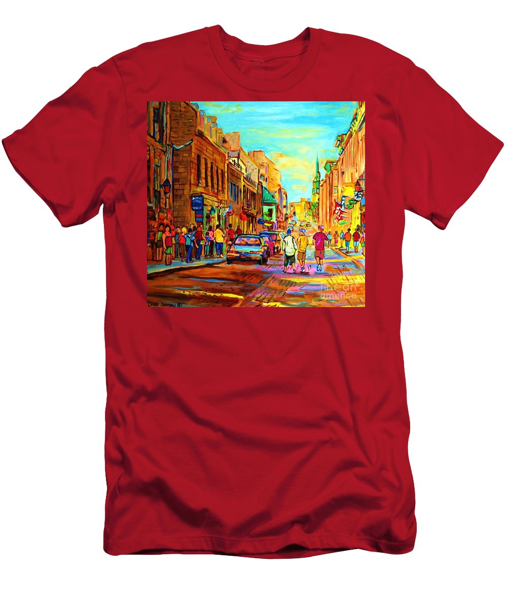 Montreal Men's T-Shirt (Athletic Fit) featuring the painting Follow The Yellow Brick Road by Carole Spandau