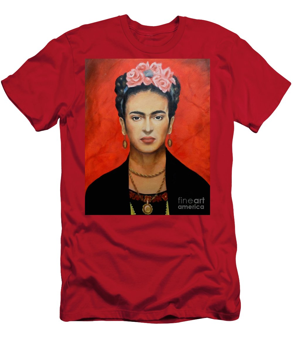 Frida T-Shirt featuring the painting Frida Kahlo by Yelena Day