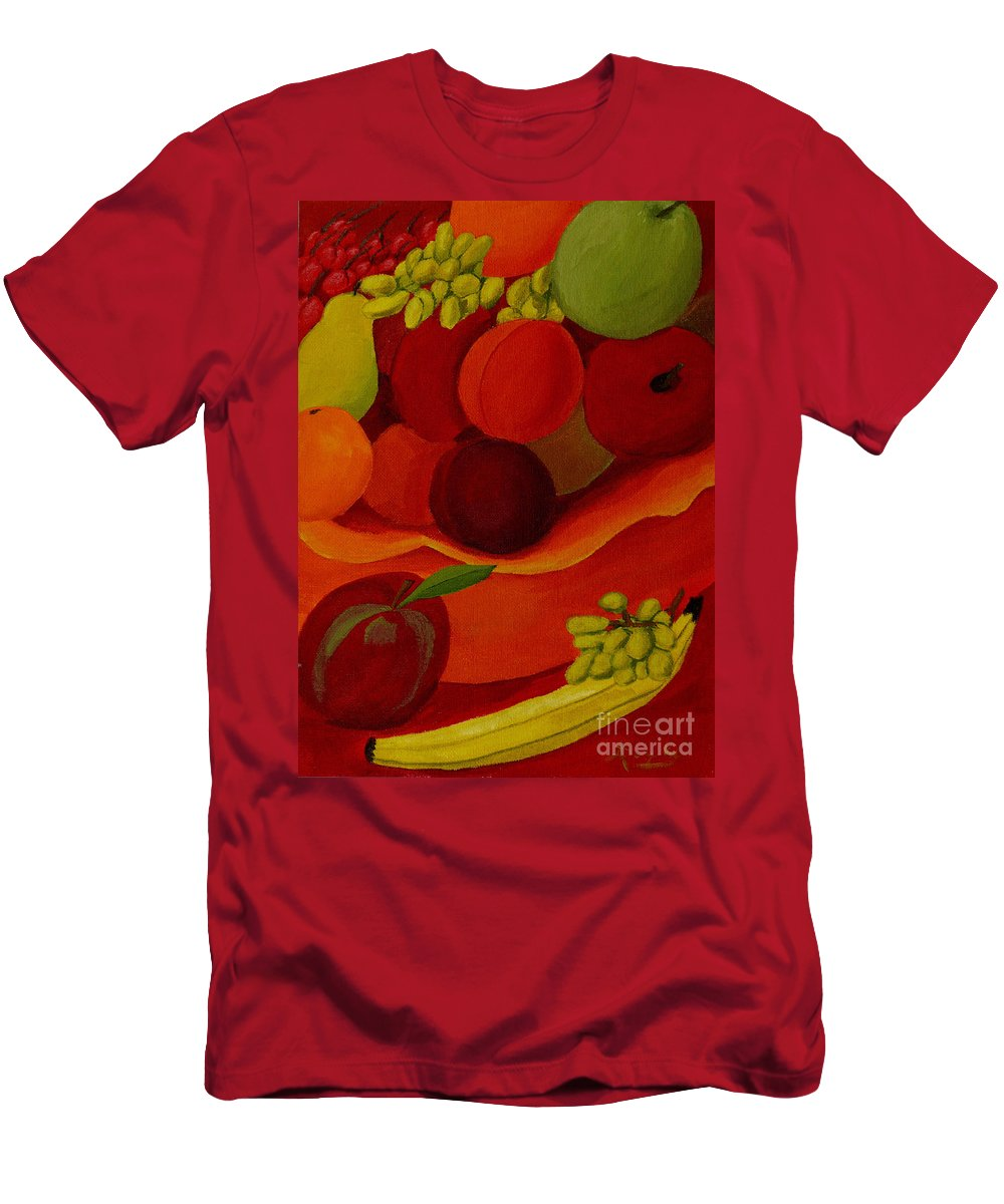 Fruit Men's T-Shirt (Athletic Fit) featuring the painting Fruit-still Life by Anthony Dunphy
