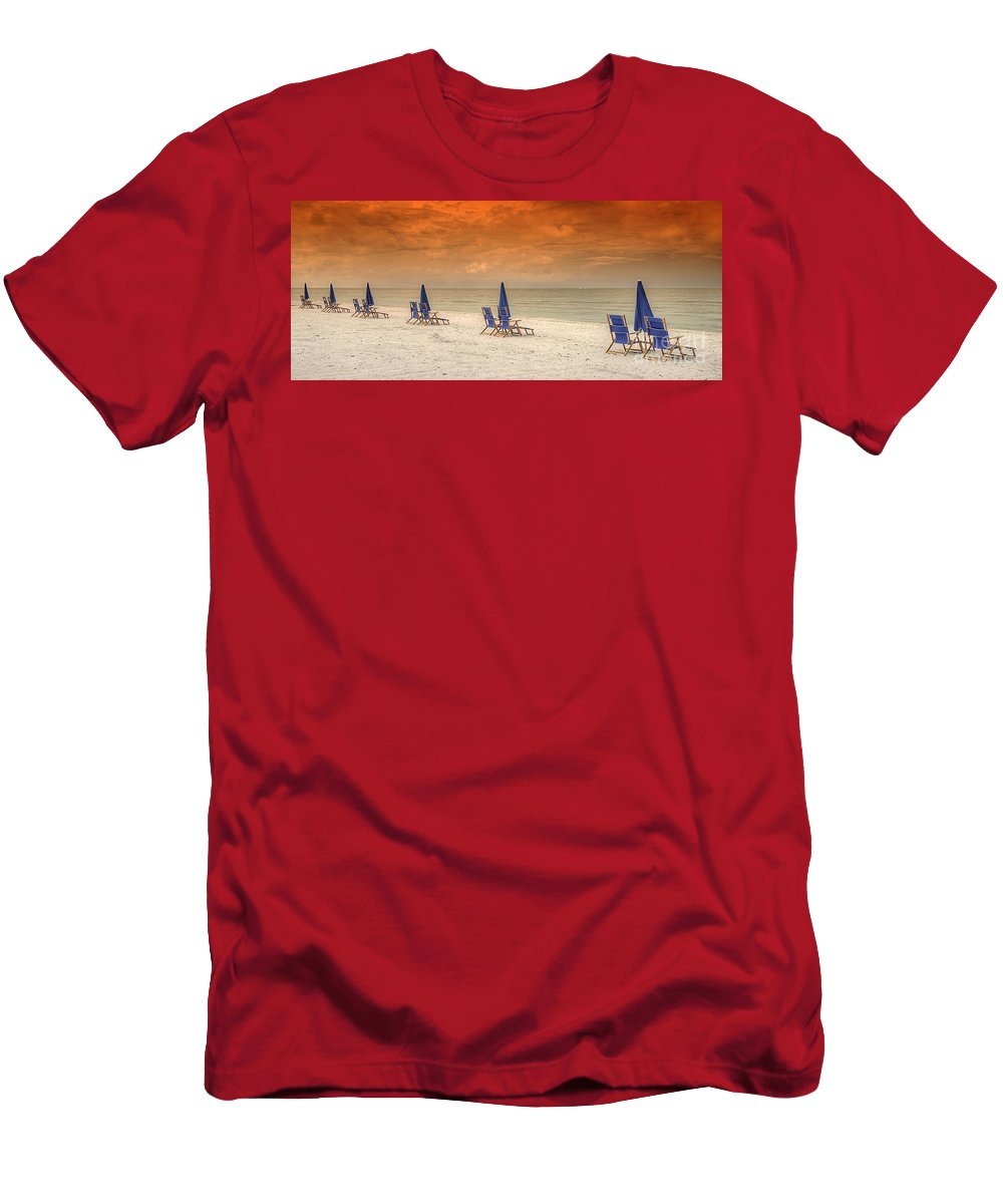 Beach Men's T-Shirt (Athletic Fit) featuring the photograph Ft. Myers Beach by Bruce Bain