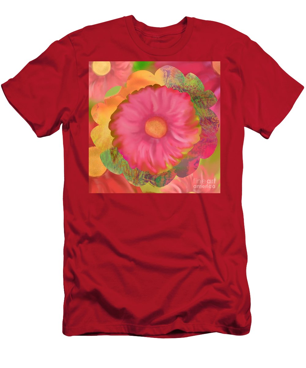 Abstract Men's T-Shirt (Athletic Fit) featuring the digital art Garden Party II by Christine Fournier