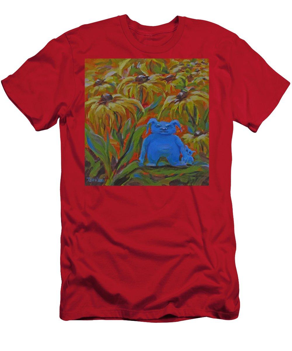 Fun T-Shirt featuring the painting Garden Secrets by Karen Ilari