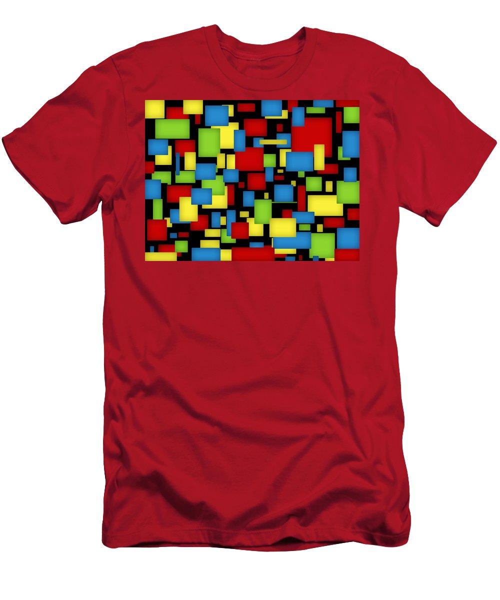 Digital Art Men's T-Shirt (Athletic Fit) featuring the digital art Geometric Art by Gabiw Art