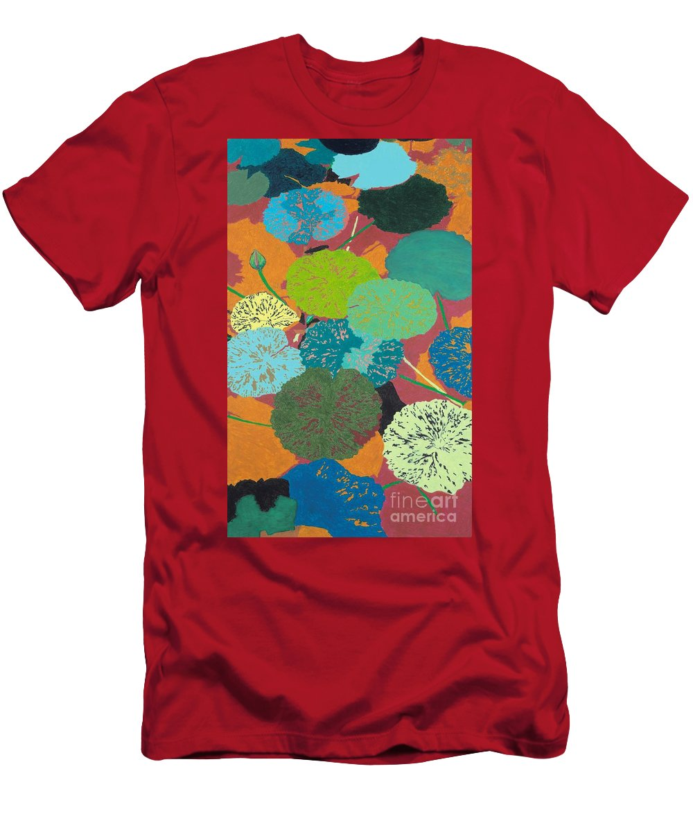 Landscape Men's T-Shirt (Athletic Fit) featuring the painting Georgia Heat by Allan P Friedlander