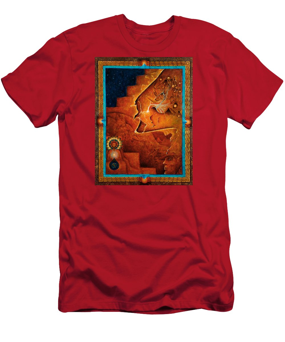 Native American Men's T-Shirt (Athletic Fit) featuring the painting Gifts Of The Spirit by Kevin Chasing Wolf Hutchins