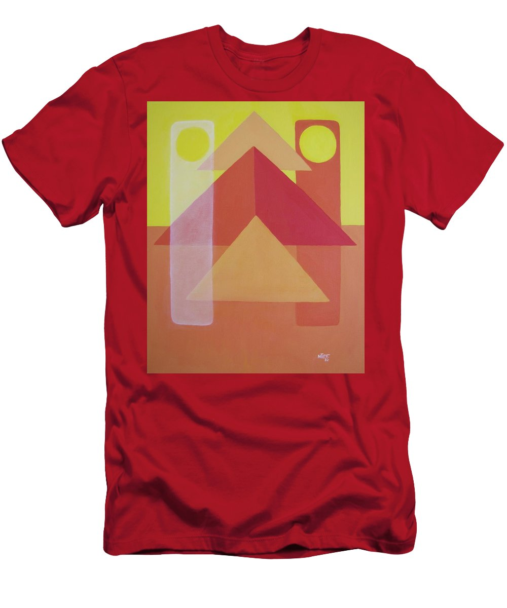 Giza T-Shirt featuring the painting Giza by Michael TMAD Finney AKA MTEE