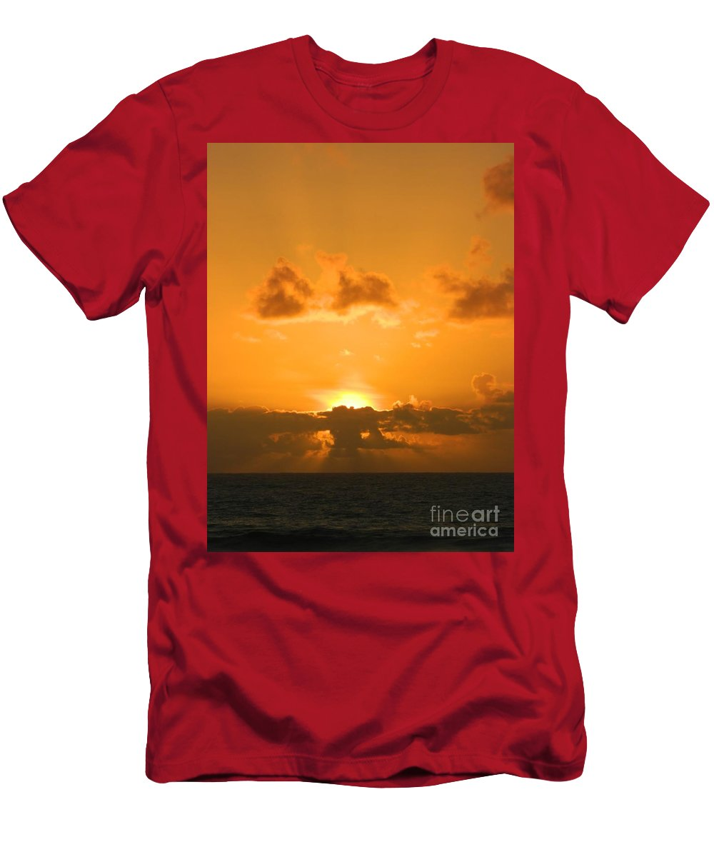 Sunset Men's T-Shirt (Athletic Fit) featuring the photograph Golden Sunset by Gallery Of Hope