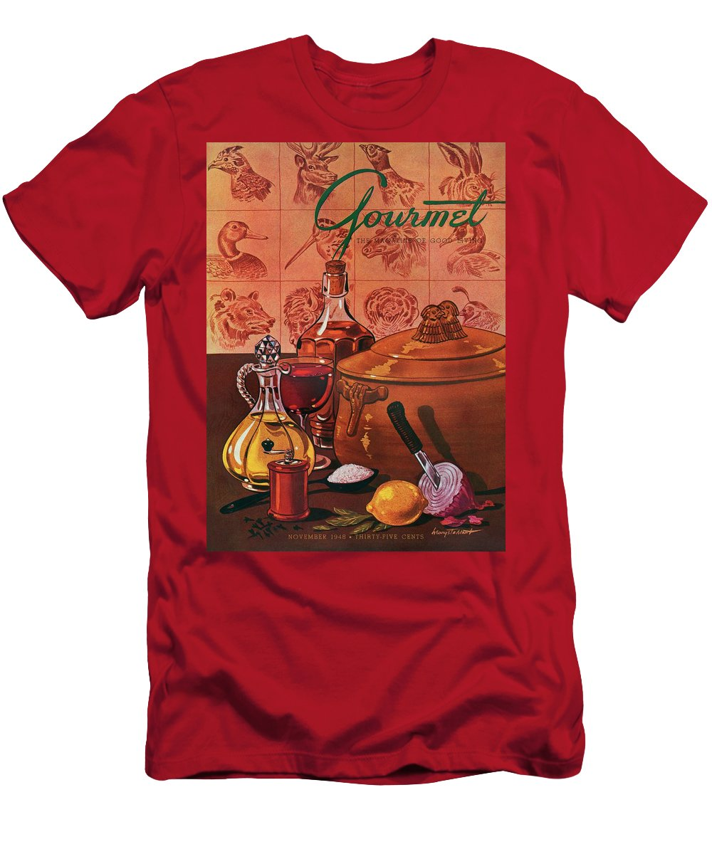 Illustration T-Shirt featuring the photograph Gourmet Cover Featuring A Casserole Pot by Henry Stahlhut