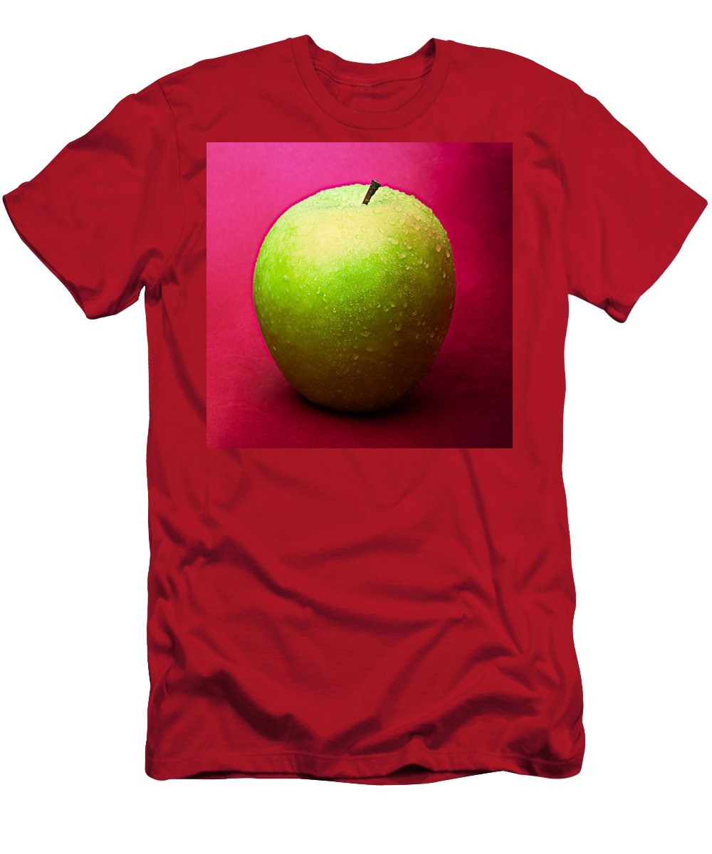 Apple Men's T-Shirt (Athletic Fit) featuring the photograph Green Apple Whole 1 by Alexander Senin