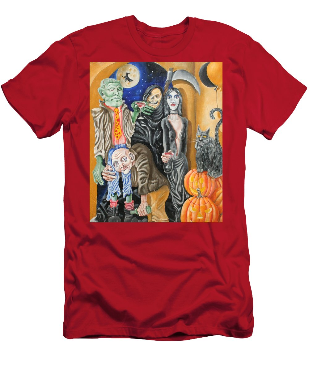 Halloween Men's T-Shirt (Athletic Fit) featuring the painting Halloween by Don Martinelli