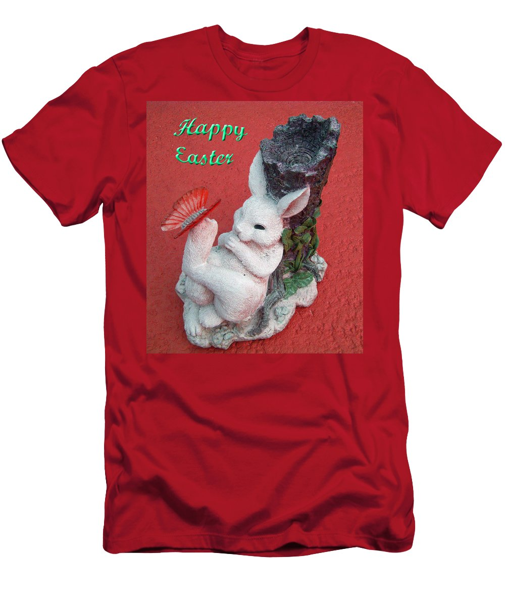Easter Card Men's T-Shirt (Athletic Fit) featuring the photograph Happy Easter Card 5 by Aimee L Maher ALM GALLERY