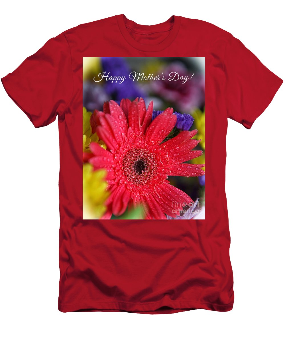 Mother's Day Card Men's T-Shirt (Athletic Fit) featuring the photograph Happy Mother's Day by Erika Weber