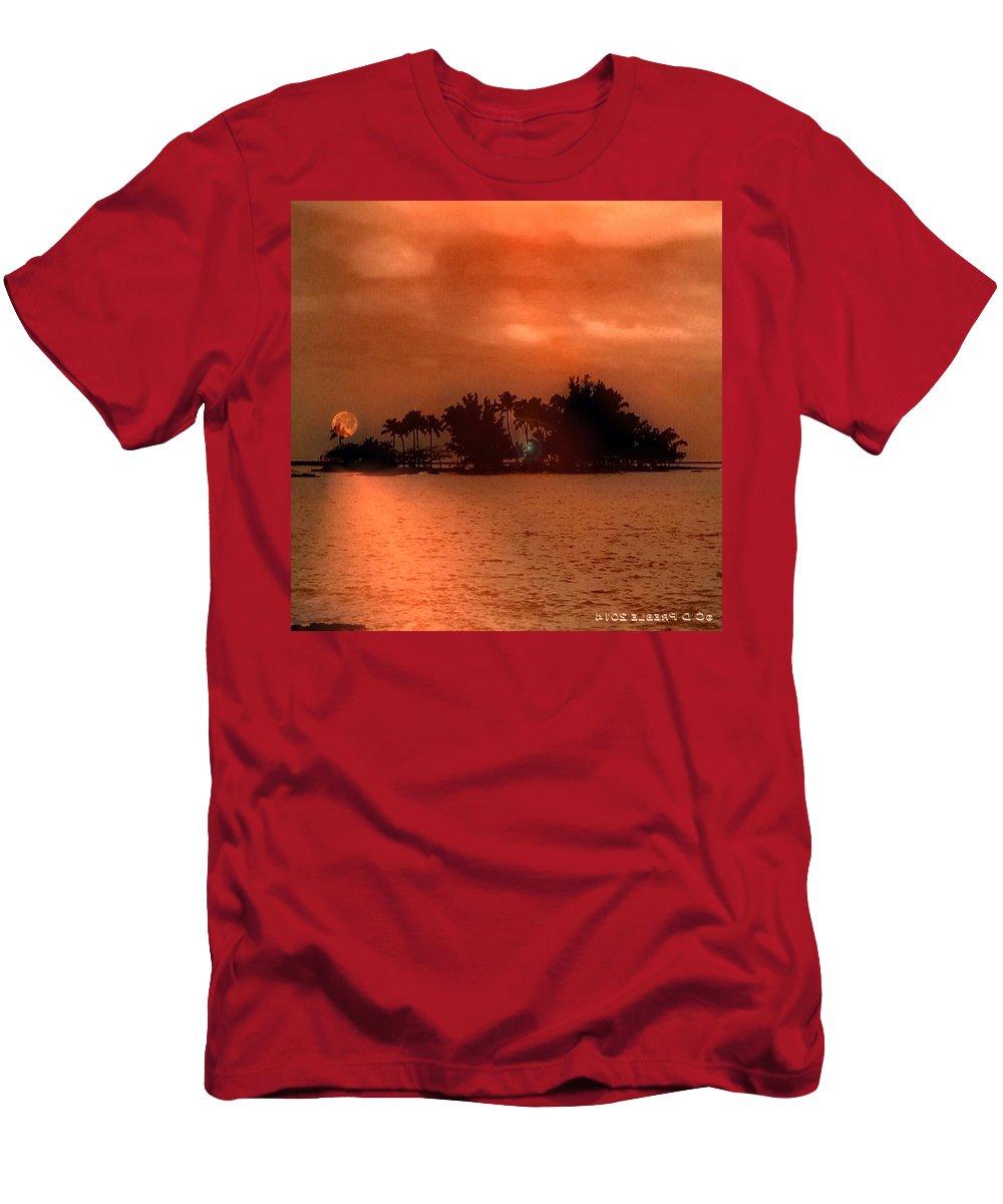 Hawaiiana Men's T-Shirt (Athletic Fit) featuring the digital art Hawaiiana 10 by D Preble