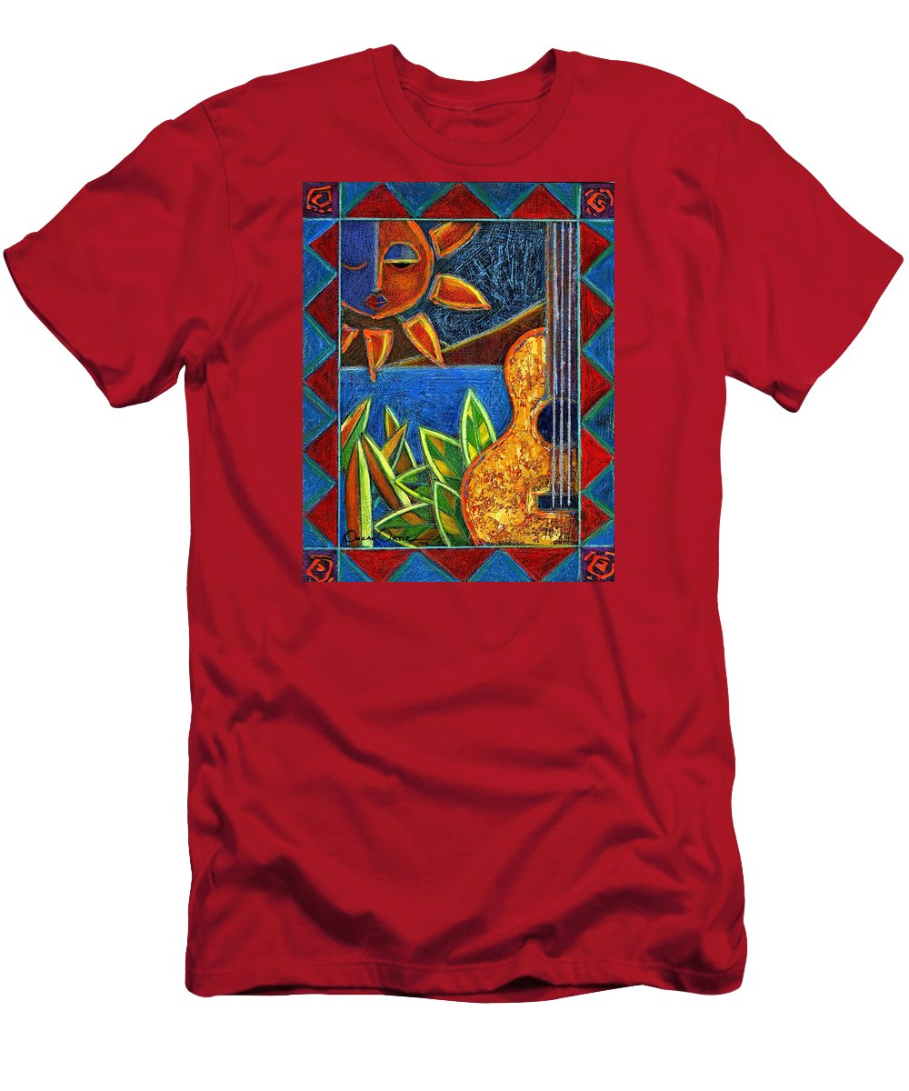 Guitar T-Shirt featuring the painting Hispanic Heritage by Oscar Ortiz