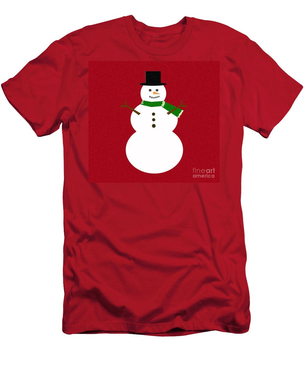 Christmas Men's T-Shirt (Athletic Fit) featuring the digital art Holiday Hugs by Amanda Barcon