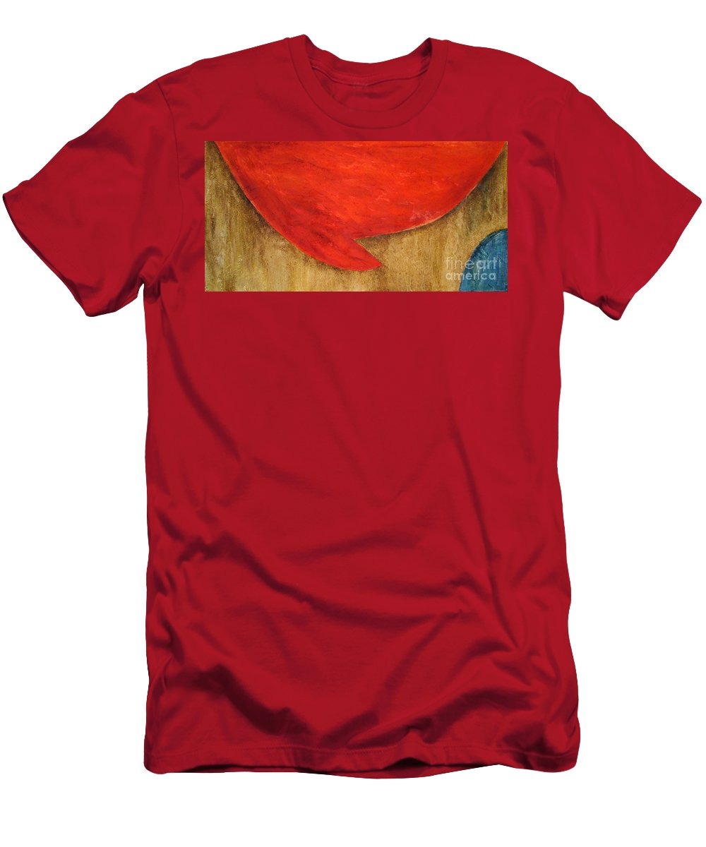 Abstract Men's T-Shirt (Athletic Fit) featuring the painting Hot Spot by Silvana Abel