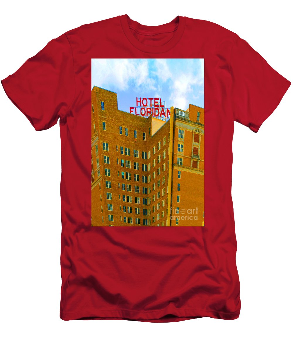 Hotel Men's T-Shirt (Athletic Fit) featuring the photograph Hotel Floridan by Jost Houk