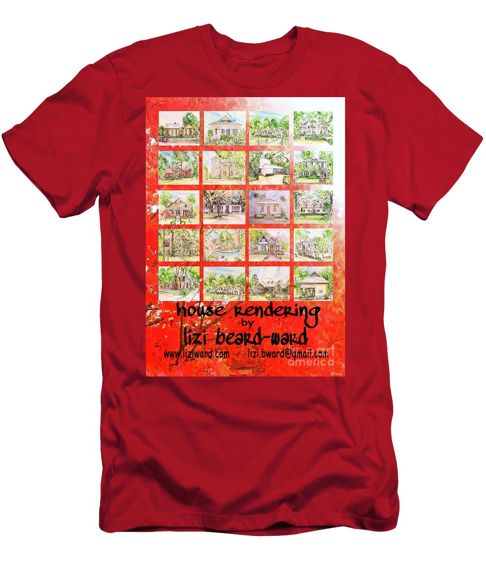 House Rendering Men's T-Shirt (Athletic Fit) featuring the mixed media House Rendering Card by Lizi Beard-Ward