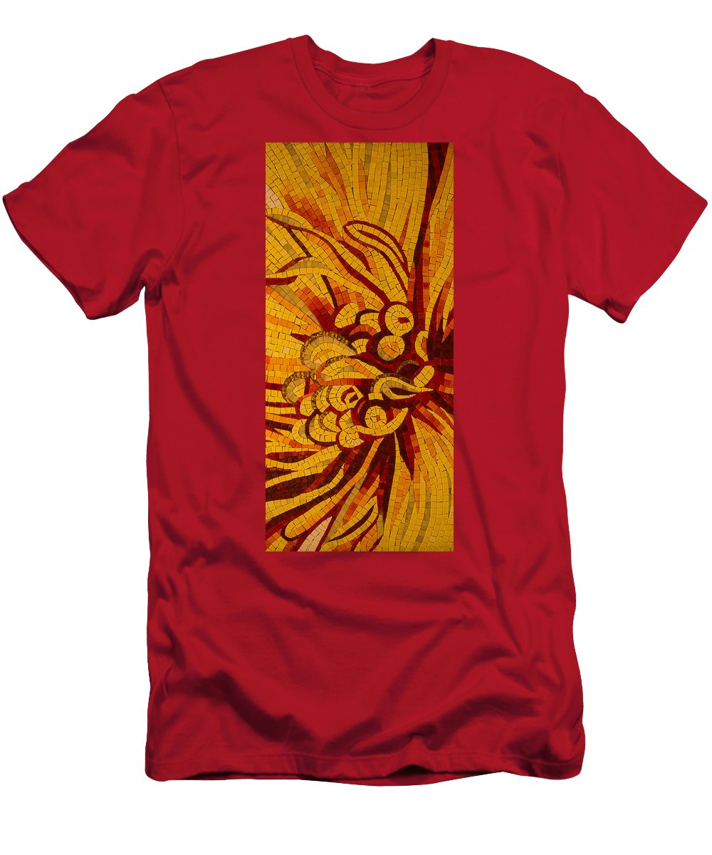 Imagination Men's T-Shirt (Athletic Fit) featuring the photograph Imagination In Hot Vivid Yellows by Georgia Mizuleva