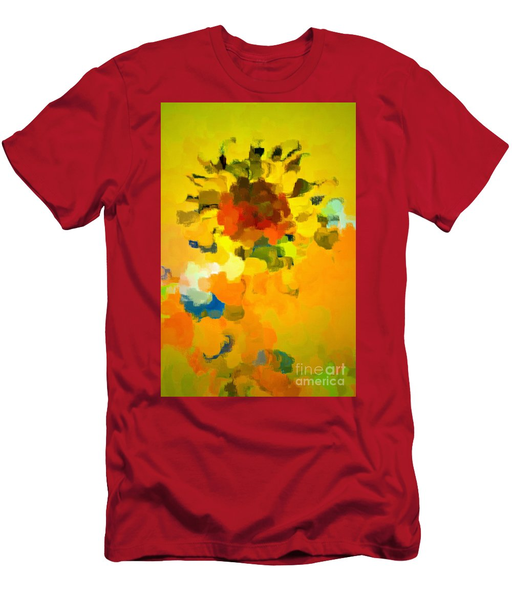 Sunflower Men's T-Shirt (Athletic Fit) featuring the photograph In Summer by Gwyn Newcombe