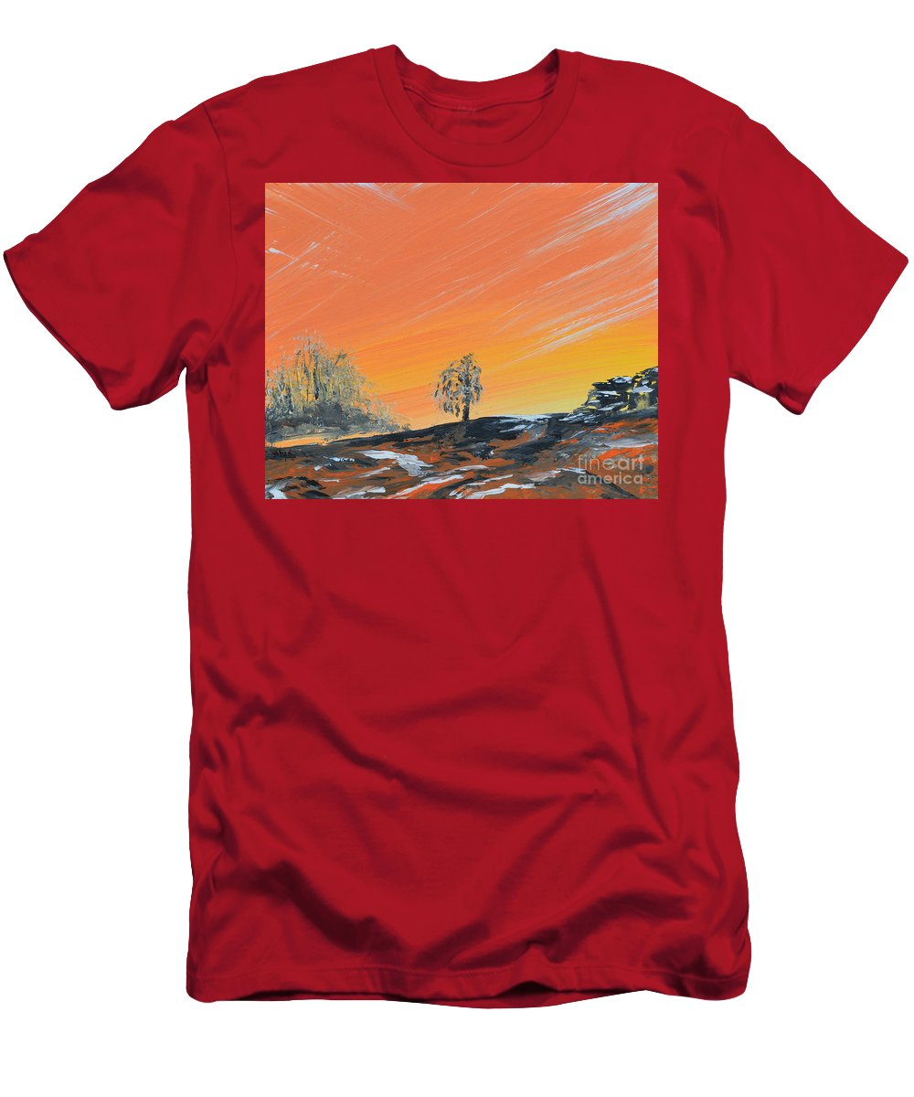 Stillness Men's T-Shirt (Athletic Fit) featuring the painting In The Stillness by Alys Caviness-Gober