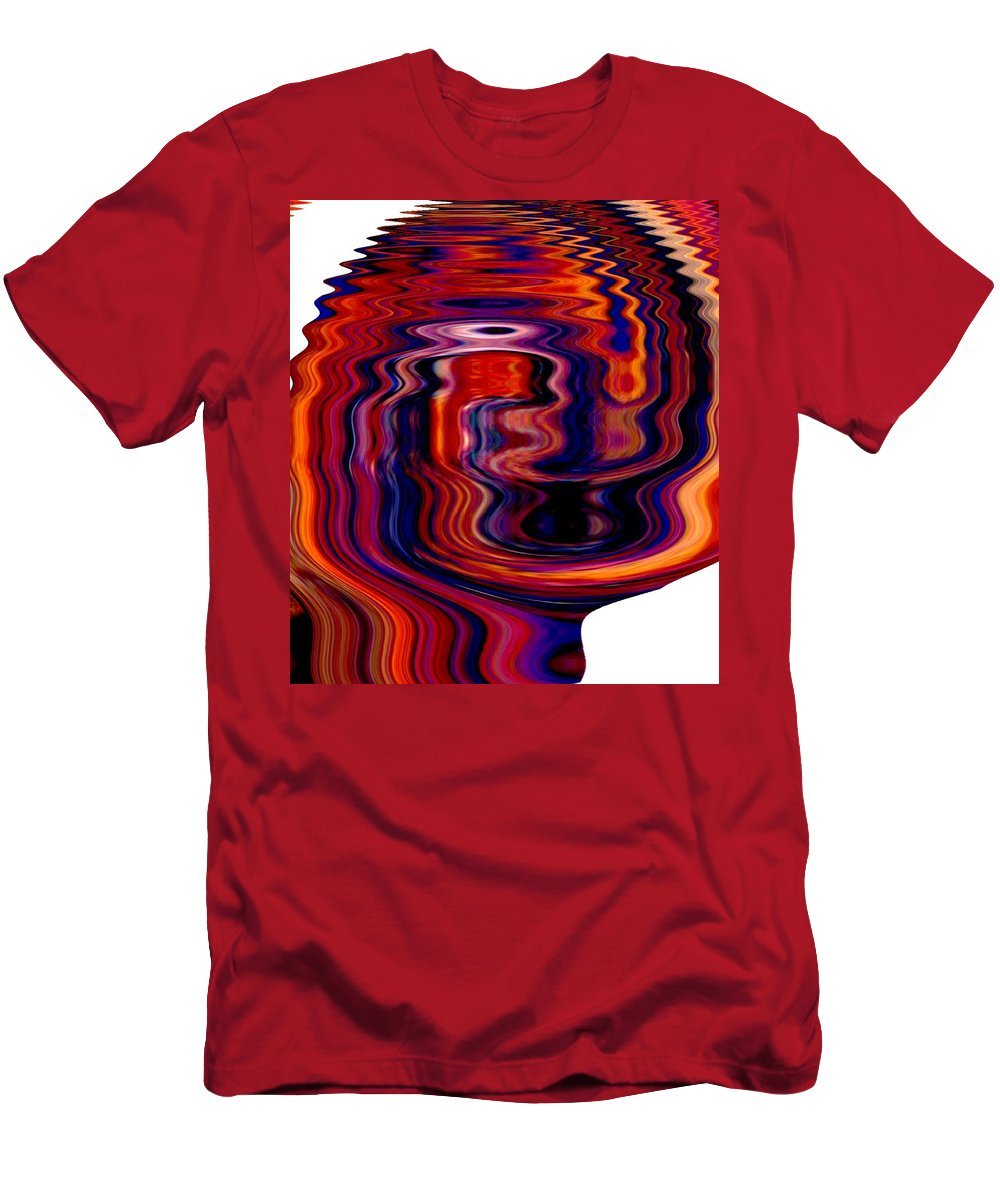 Modern Art Men's T-Shirt (Athletic Fit) featuring the photograph Infinity Mask 6 by Cj Carroll