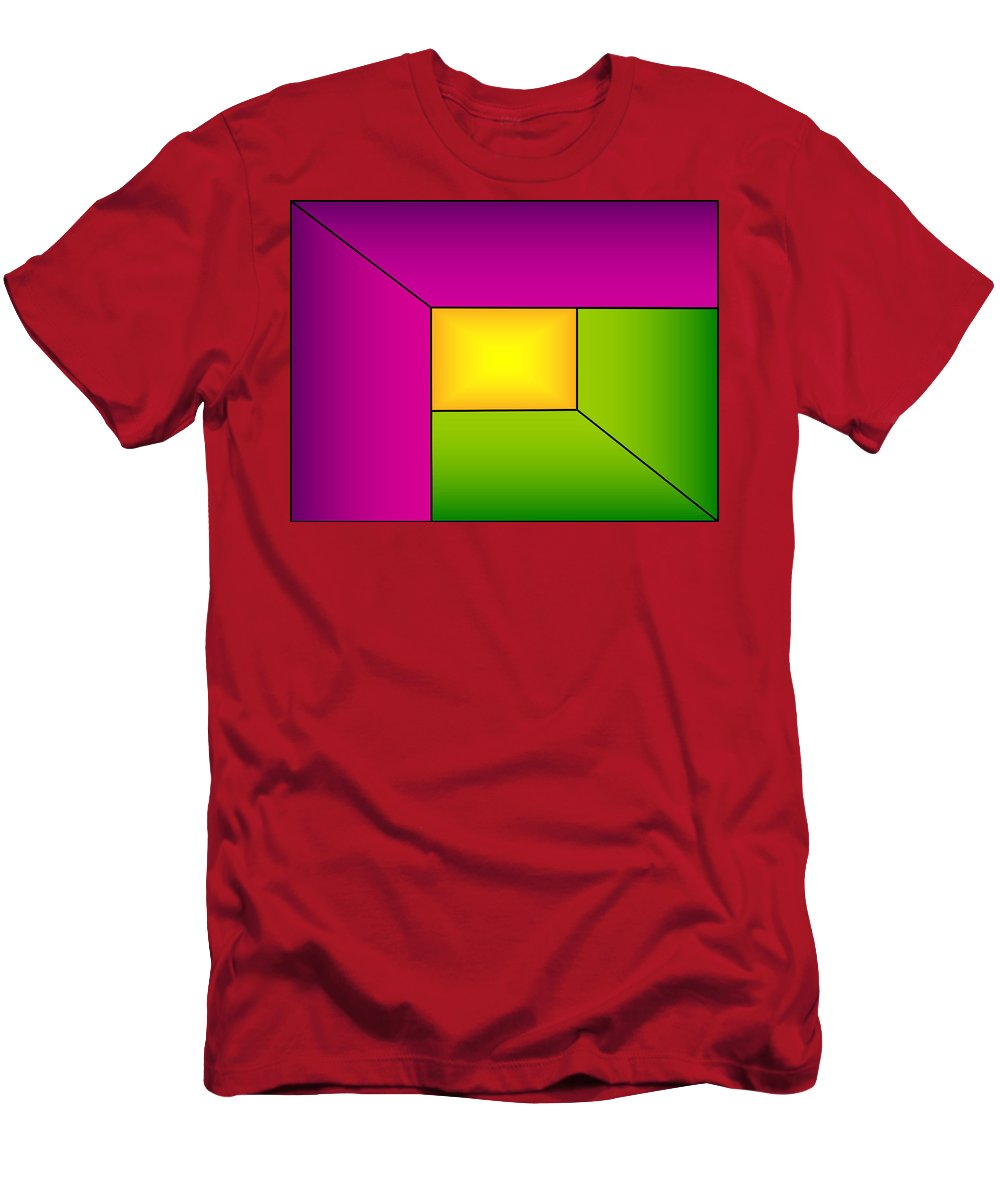 Abstract Men's T-Shirt (Athletic Fit) featuring the digital art Inner Light 1 by Geraldine Cote