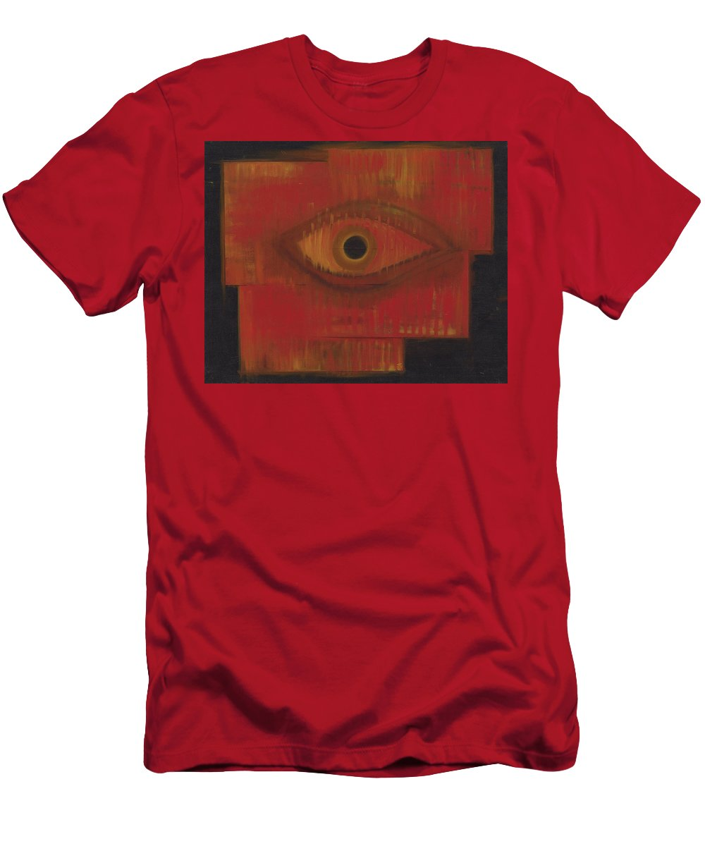 Eye Men's T-Shirt (Athletic Fit) featuring the painting Intuition by Jessica Rosen