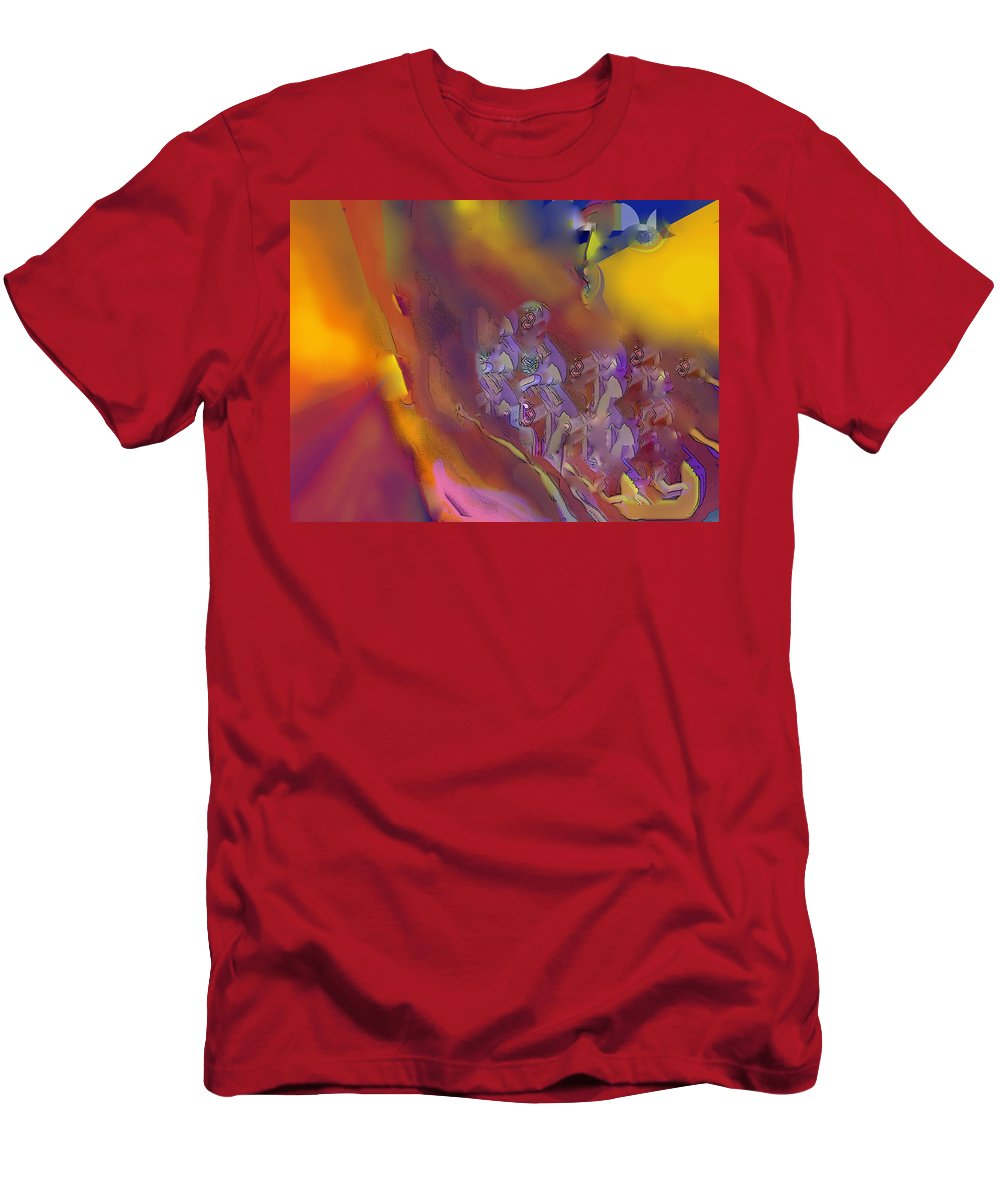 Abstract T-Shirt featuring the digital art Invasion by Ian MacDonald