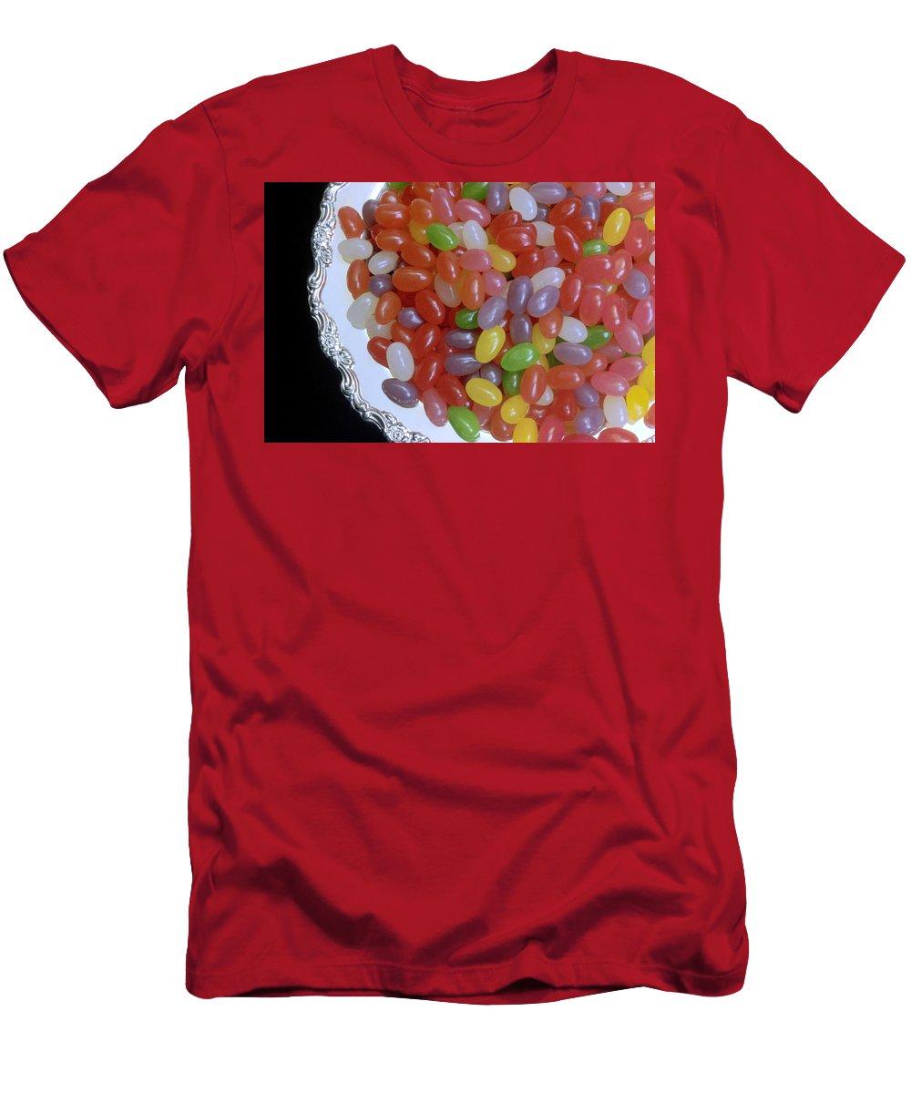 Jelly Beans Men's T-Shirt (Athletic Fit) featuring the photograph Jelly Beans by Jerry McElroy