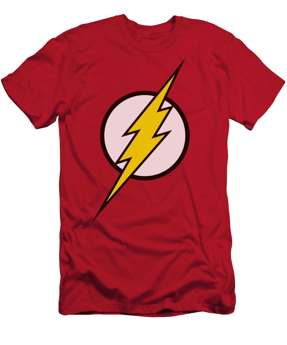 Justice League Of America T-Shirt featuring the digital art Jla - Flash Logo by Brand A