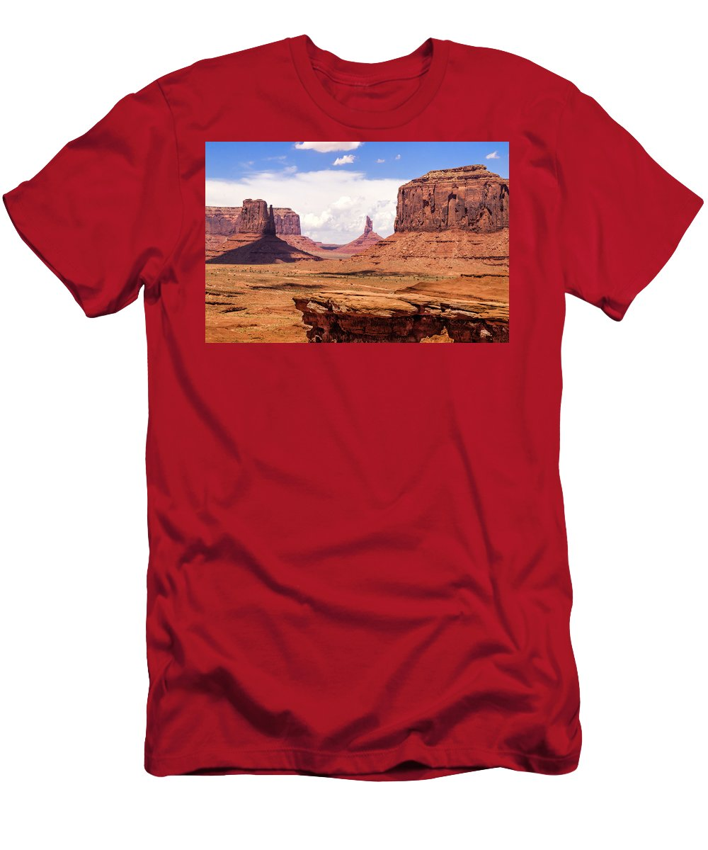 Landscape Men's T-Shirt (Athletic Fit) featuring the photograph John Ford Point - Monument Valley - Arizona by Jon Berghoff