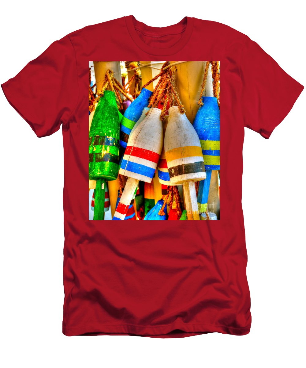 Buoys Men's T-Shirt (Athletic Fit) featuring the photograph Knotty Buoys by Debbi Granruth