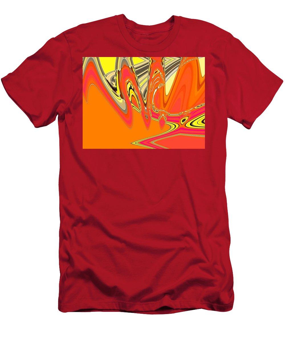 Orange Men's T-Shirt (Athletic Fit) featuring the digital art Lala by John Holfinger