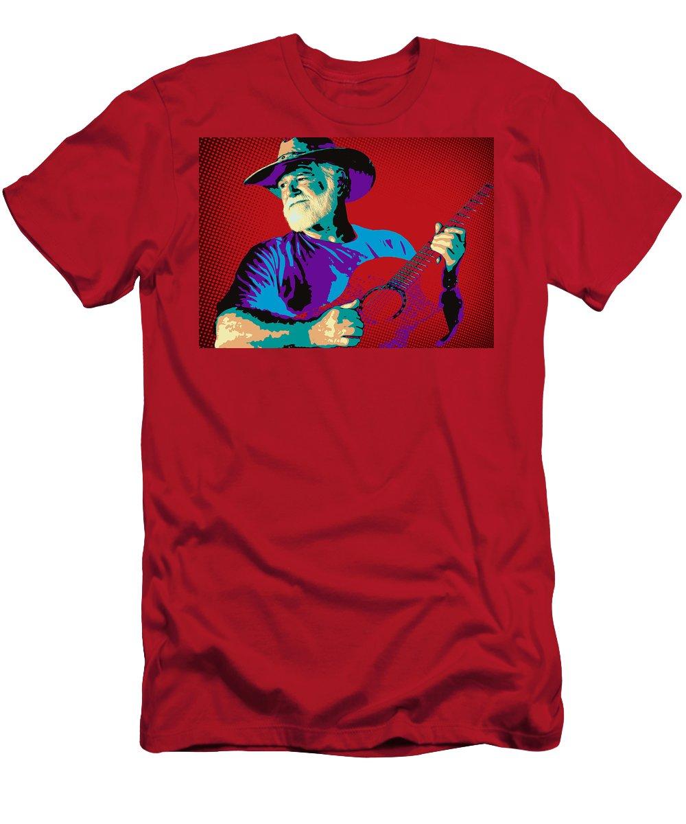 Guitar Men's T-Shirt (Athletic Fit) featuring the photograph Jack Pop Art by Daniel George