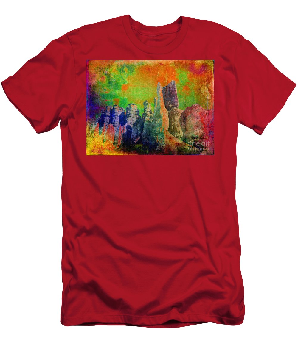 Abstract Men's T-Shirt (Athletic Fit) featuring the photograph Lucy In The Sky... by Meghan at FireBonnet Art