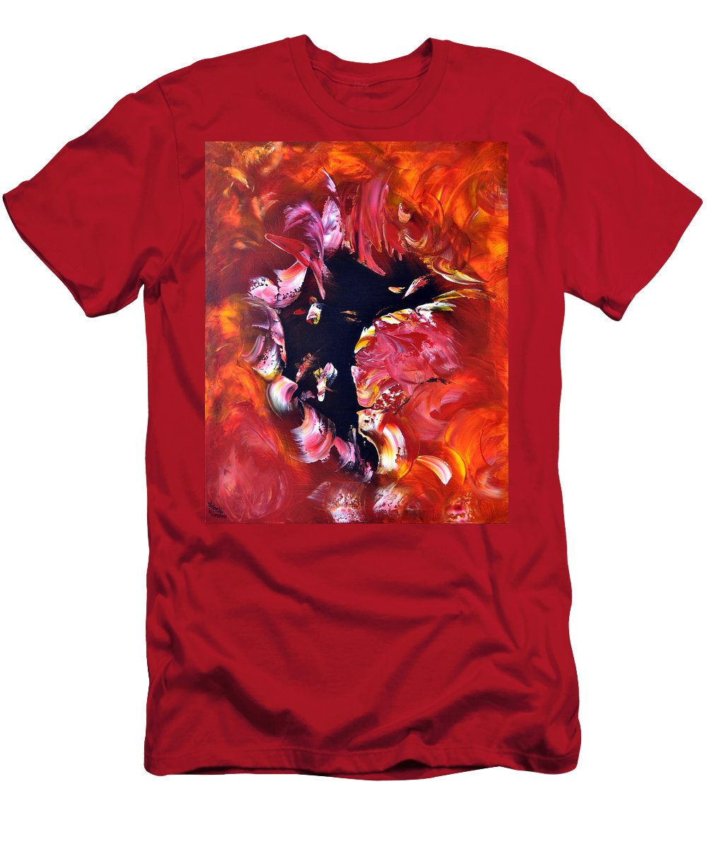 Abstract Men's T-Shirt (Athletic Fit) featuring the painting Magic Night by Isabelle Vobmann