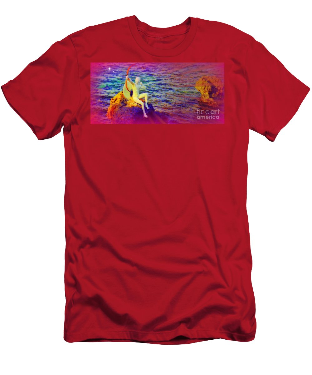 Valentine Card Men's T-Shirt (Athletic Fit) featuring the photograph Magical Love by John Malone