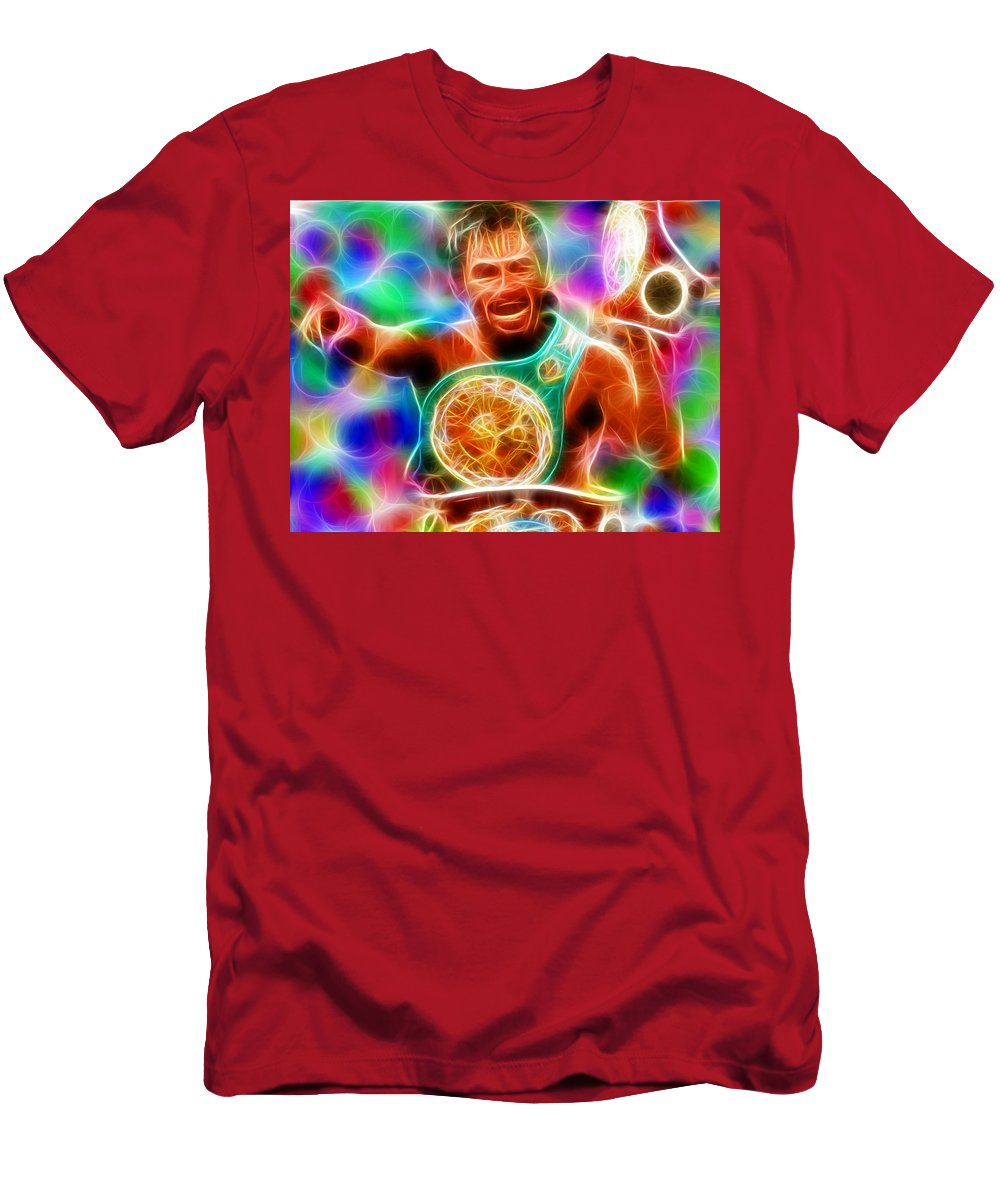 Boxer Men's T-Shirt (Athletic Fit) featuring the painting Magical Manny Pacquiao by Paul Van Scott